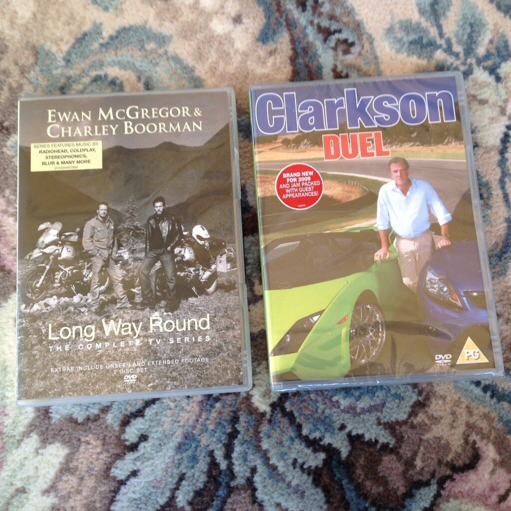 DVD's x 2. Ewan McGregor/ Charley Boorman/Jeremy Clarkson. BN and sealed.
