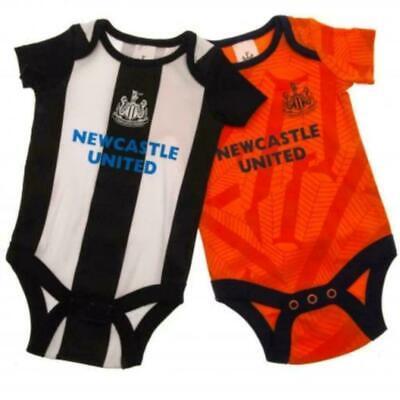 Newcastle Utd FC   2019/20 Official 2 Pack Bodysuit Babygrow Vest ( 0-18 Mths)