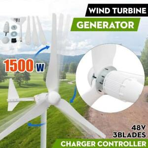1500W 48V Horizontal Wind Turbine Generator 3 Blades Residential Garden - BRAND NEW - FREE SHIPPING