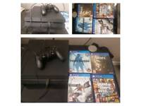 PS4, Controller & 4 games