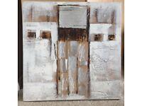 Light abstract canvas wall art (Dunelm)