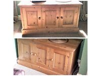 2 x solid pine cupboards - £80