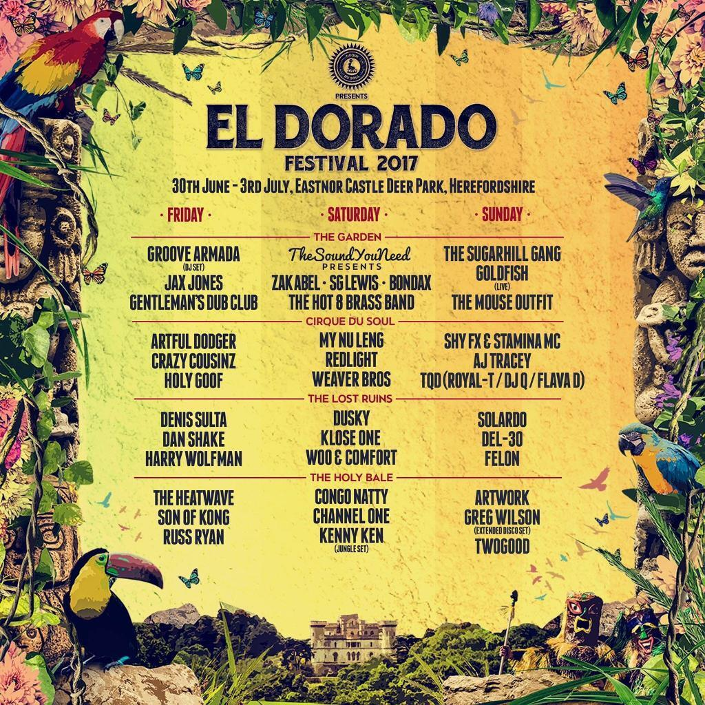 El Dorado Festival 2017 (2 ticketsin Selly Oak, West MidlandsGumtree - Have 2 spare weekend camping tickets for El Dorado festival (30 June 3rd July). Selling cheaper than they were bought for, 3rd release tickets. £100 each.Can meet in Birmingham, or close to Tewkesbury area
