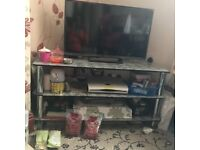 2 black glass tv stands for sale