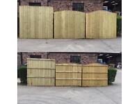 🌲Wooden Wayneylap/ Bow Top/ Straight Top High Quality Tanalised Garden Fence Panels🌲