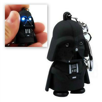 LED DARTH VADER KEYCHAIN w LIGHT and SOUND Toy Keyring Key Chain Ring Star Wars