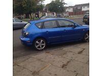 Mazda 3 sport winning blue