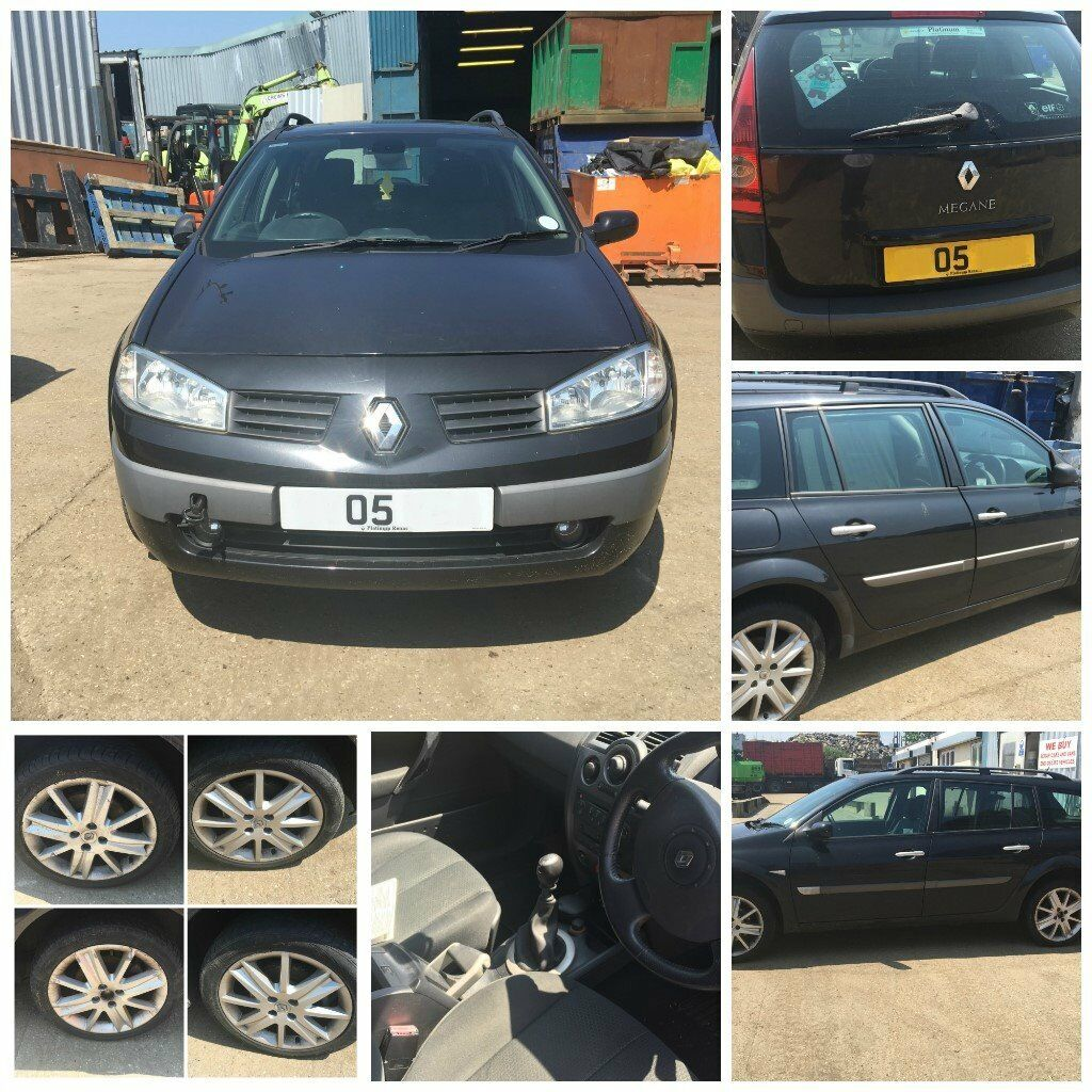 Renault Megane DCI 120 Estate 2005 1.9 Black MV576 Front bumper all parts available