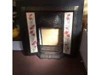 Cast Iron and brass fireplace