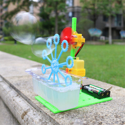Diy Bubble Machine (Homemade Hand-cranked Bubble Machine Model DIY Technology Small)