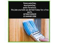 Fence, sheds, furniture painting. The jobs you hate we do!