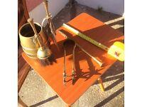 Used fireside utensils