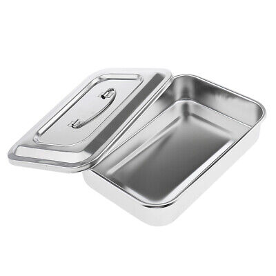 9 Stainless Steel Instrument Tray Lid Dental Storage Box Case