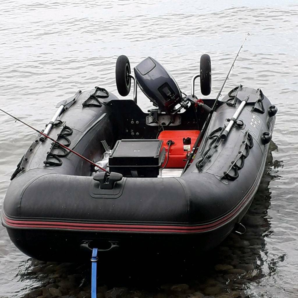 Inflatable boat dinghy rib tender yamaha 15hp Outboard ...