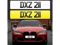 DXZ 211 - Short 3 digit NI Number Plate- Cherished Personal Private Registration plates