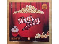 Heat 'N' Eat Microwave Popcorn Maker Machine - new in box