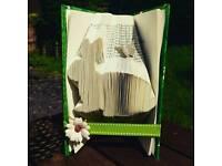 Bunny rabbit bookfold, book art - animal lover gift, home decor, Christmas or birthday gift.