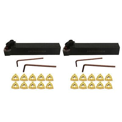 2set Cnc Metal Lathe Turning Tools 5 Inch Holder Bit Set Wcarbide Inserts