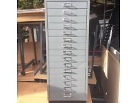 Bislay 15 drawer filing cabinet a4 size