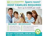 Host Families required! Rooms wanted West Wickham & surrounding