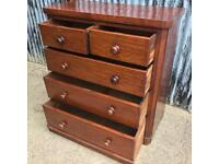 Beautiful Victorian Mahogany Chest Of Drawers