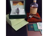 New silver Green face Rolex DateJust Comes Rolex Bagged And Boxed With Paperwork