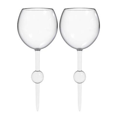 2 clear FLOATING BEACH POOL GLASSES Acrylic For Beach, Pool, / (Glasses For Pool)
