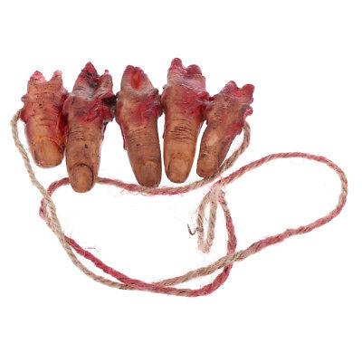 Gefälschte Körperteile Halloween (Scary Halloween gefälschte Finger Körperteile Prop Spukhaus Streich Tricky)