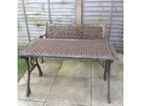 Garden Table and Bench Seat