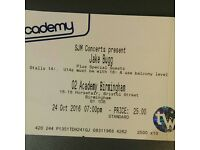 1x STALLS STANDING Jake Bugg at O2 Academy Birmingham on MONDAY 24/10/2016 at 19.00