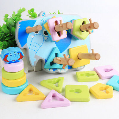 Wooden Color Shape Sort Toys for Age 3 4 5 Years Old and Up Kids