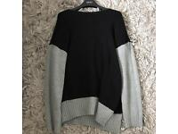 Zara jumper grey and black size M