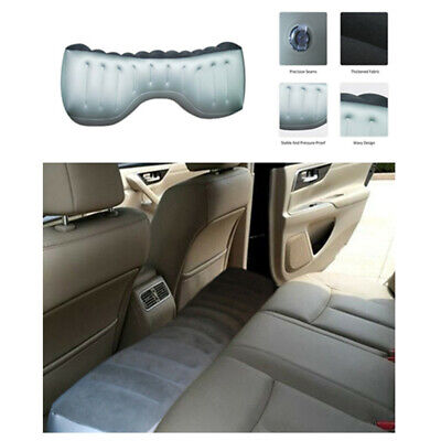 Gray PVC Car Back Seat Gap Pad Travel Inflatable Mattress Air Bed Cushion