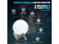 3D Printing Moon Lamp Diameter 10cm USB Rechargeable LED Night Light