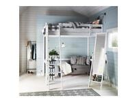Ikea Stora double high sleeper loft bed (shortened by about 20cm