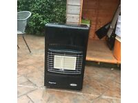Calor gas heater, suitable for work place, static caravan or home. With gas bottle