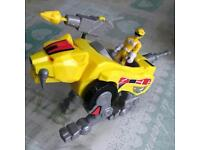Yellow Power Ranger with Sabre battle cat