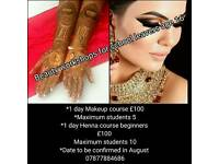 Henna/ makeup Summer school / holiday workshop age 15/16