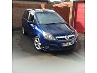Vauxhall zafira SRI blue, low milage, very good condition.