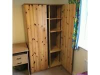 2 pine wardrobes