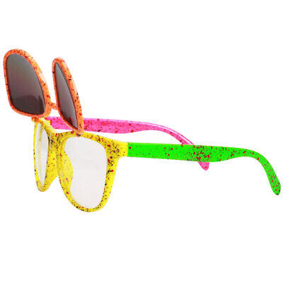 Novelty Flip up Glasses Party Costumes 80s Neon Sunglasses for Kids (Novelty Sunglasses For Adults)