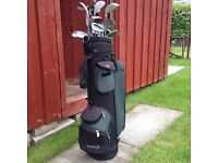Golf bag and clubs