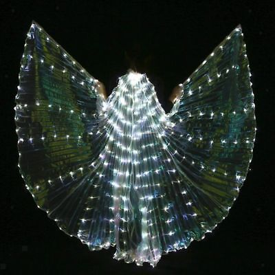 Kinder Belly Dance LED Isis Wings Glow leuchten Belly Dance Kostüme mit (Kostüm Mit Led-leuchten)