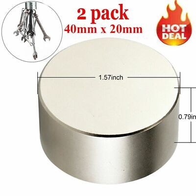 Large N52 Super Strong Neodymium Round Rare Earth Fridge Magnets Thick 40mm20mm