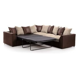 *** 1 YEAR WARRANTY *** BRAND NEW BYRON LARGE CORNER SOFA OR CORNER SOFA BED ON SPECIAL OFFER