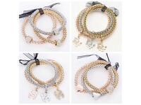 Single charm bracelet, rose gold, gold, silver, heart, Chanel, Dior, Diamonte
