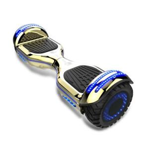 Off roadh hoverboards with LED lights in the wheels. No fall technology and self balance with bluetooth