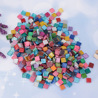 450g Mixed Glitter Crystal Glass Mosaic Tiles Pieces for DIY Crafts Material