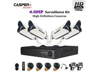 HD 4CH DVR 5 IN 1 Kit with CCTV 4.0MP Camera In/Outdoor CVI TVI AHD System