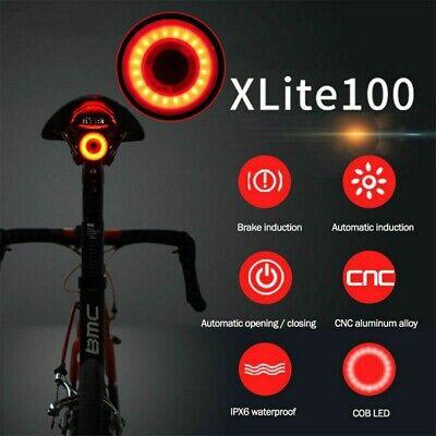 XLite100 LED Impermeable Bicicleta Inteligente Luces Sentido Luz de Freno Cola